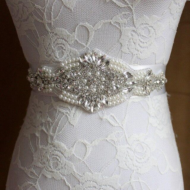 2016 New Arrival Handmade crystal rhinestone Beaded embellishment waist belt Wedding Bridal Sash women costume Belt