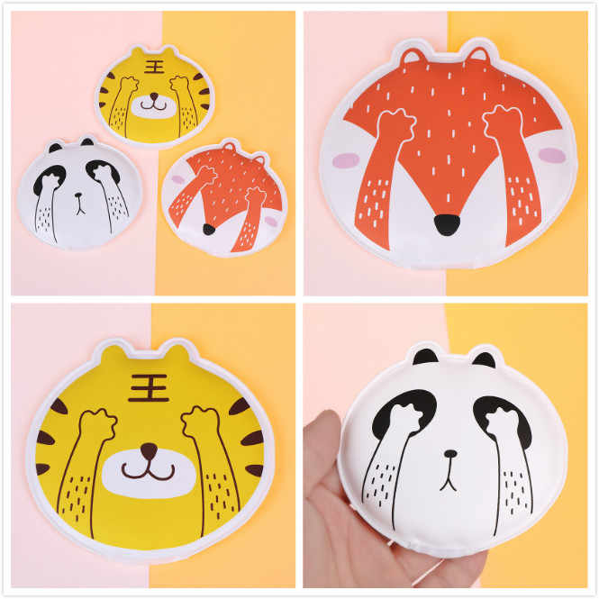 Cute Animal Style Gel+PVC Hand Warmers Reusable Self-Heating Hot Bag For DropShipping Portable Warmth Supplies