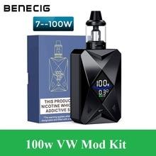 Benecig Goblin 100 Вт Алмазный вейп комплект Электронная сигарета вейпер 2000 мАч батарея с большой паровой атомайзер электронная сигарета испаритель