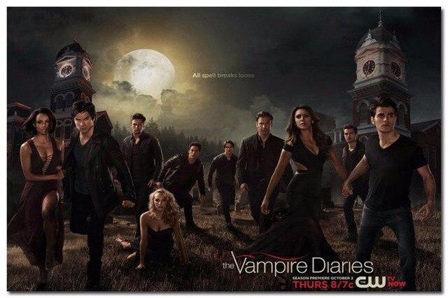 7202 Vampire Diaries Season 5 Tv Series Play Wall Sticker Art Poster