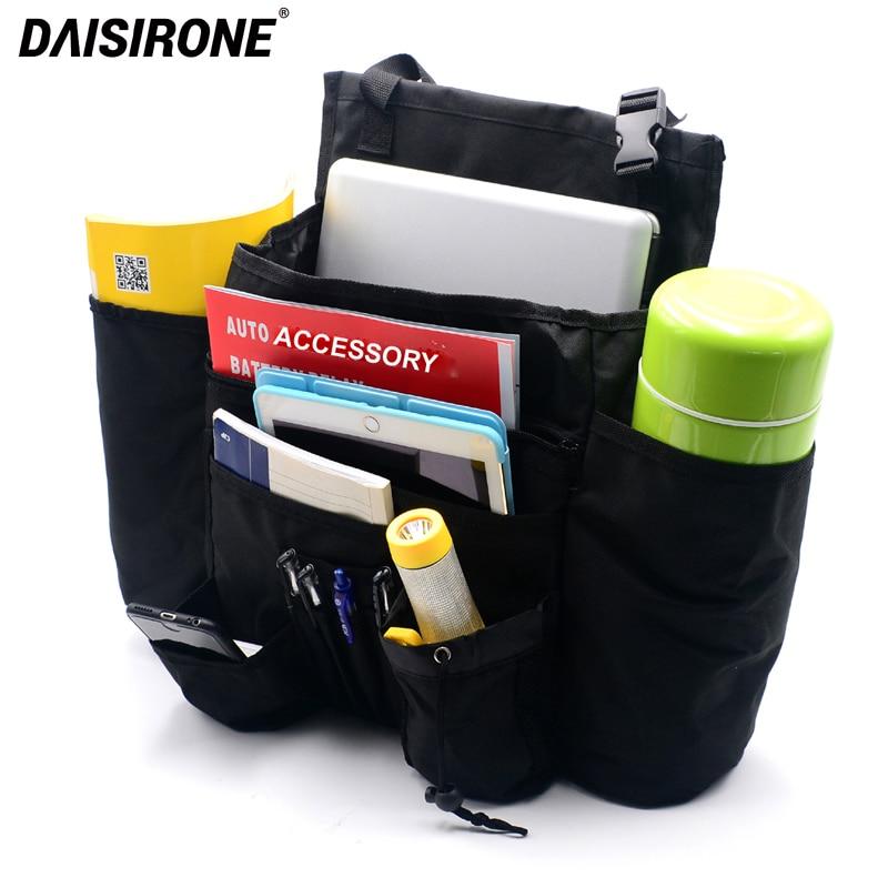 Car Front Seat Organizer Passenger Seat Organizer Car Seat Organizer Storage Bag for Laptop Tablet Travel Office Accessory Black