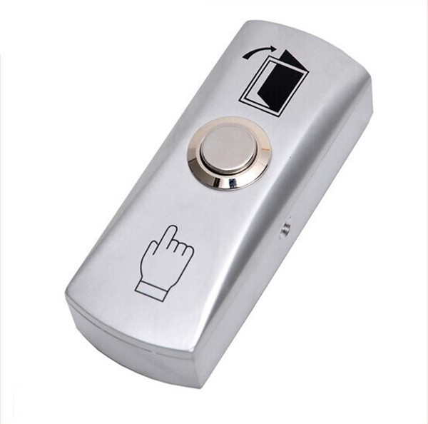 5pcs Exit Button For Access Control Aluminum Alloy With The Bottom Box Dimensions