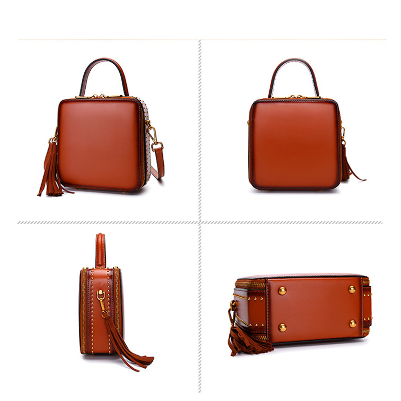 Nowa moda luksusowe torebki damskie projektant kobiet torby torby na ramię wysokiej jakości prawdziwej skóry torby na ramie z frędzlami 9 kolorów w Torebki na ramię od Bagaże i torby na  Grupa 2