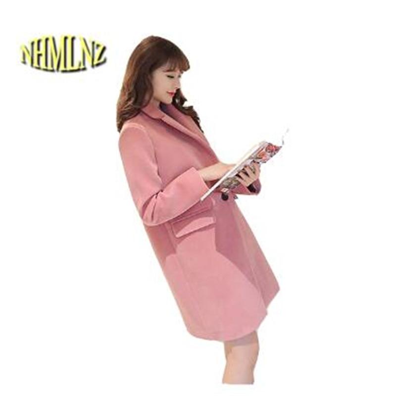 Korean Style New Fashion Women Winter Coat Leisure Big yards Thick Warm Woolen cloth Coat Loose Cashmere Woolen cloth Coat G2440