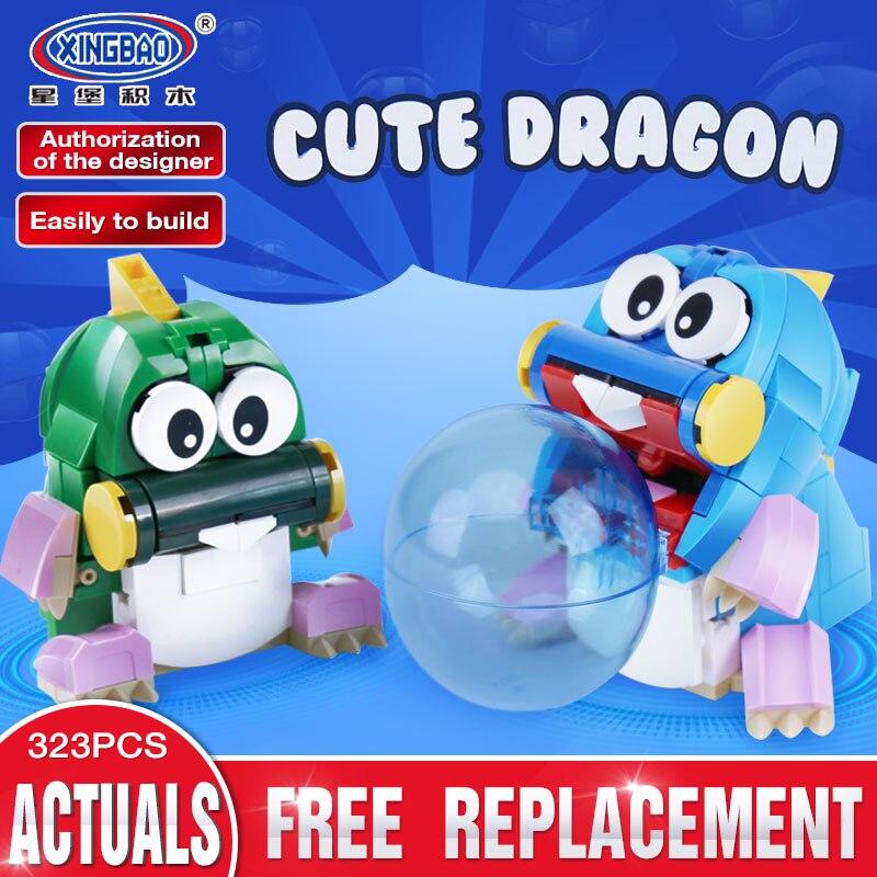 Xingbao 11001 323Pcs New Genuine Creative MOC Series The Cute Dragon Set Children Educational Building Blocks Bricks Toys Model женские сапоги ecco 234533 11001