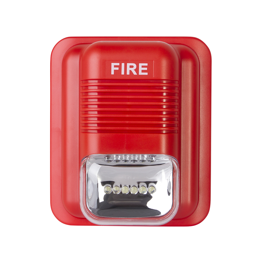 105dB LED Fire Alarm Siren Sound & Strobe Alert Horn Security System for Home Office Hotel Restaurant factory use ...