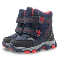 2017 ילדי חורף חמים מגפי ילדי מגפי אמצע עגל מגפי שלג נעלי נעלי גודל נעלי בני חורף בנים 27 #-32 #