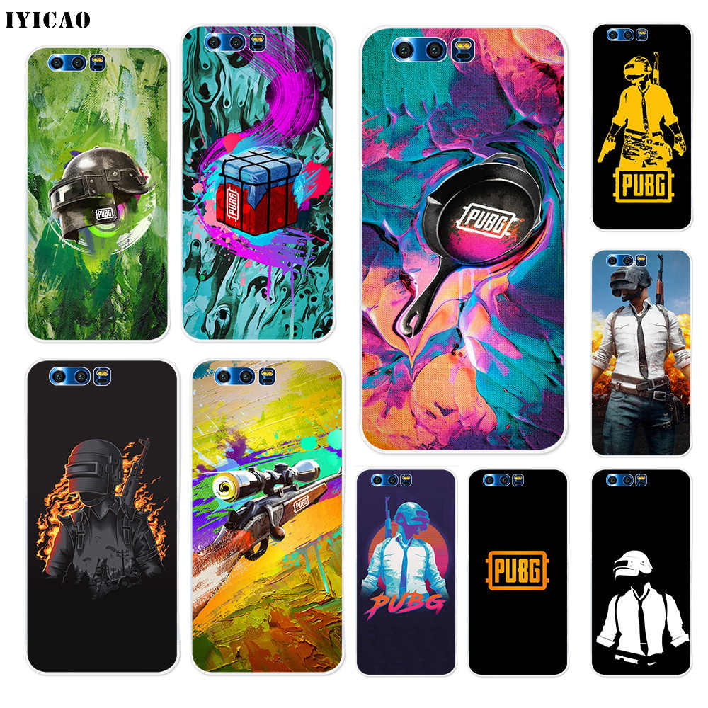 IYICAO PUBG game Soft Silicone Case for Huawei Y9 Y7 Y6 Prime 2018 Honor 8C 8X 8 9 10 Lite 7X 7C 6A 7A Pro Cover