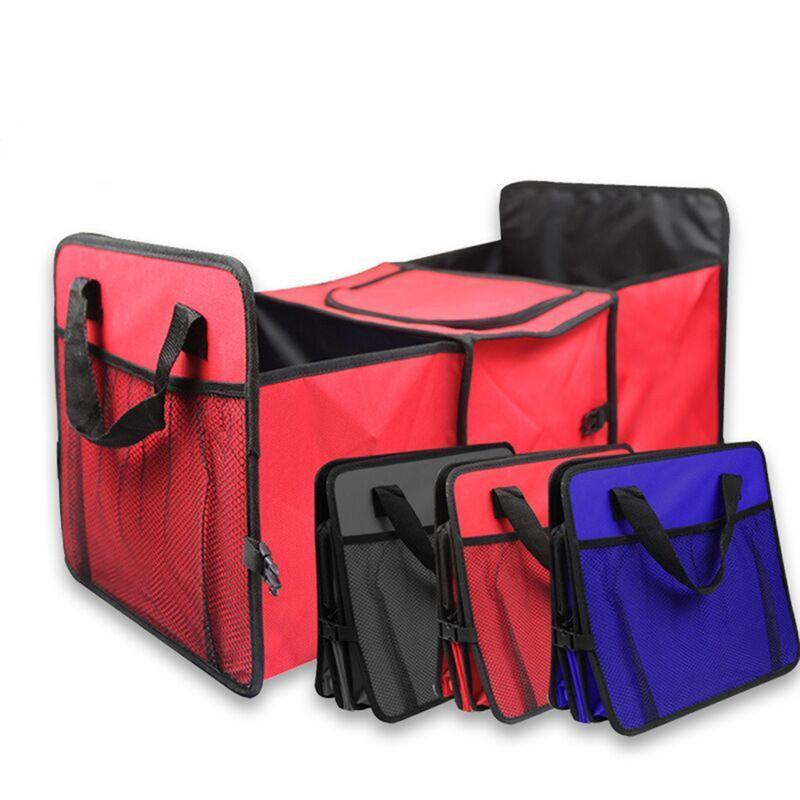 Foldable Multi Compartment Fabric Car Truck SUV Storage Basket Trunk Organizer