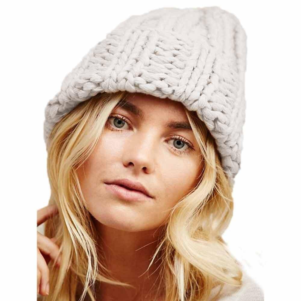 Winter brand female ball cap winter hat for women girl  hat knitted beanies cap hat thick hip hop women's skullies beanies  #815