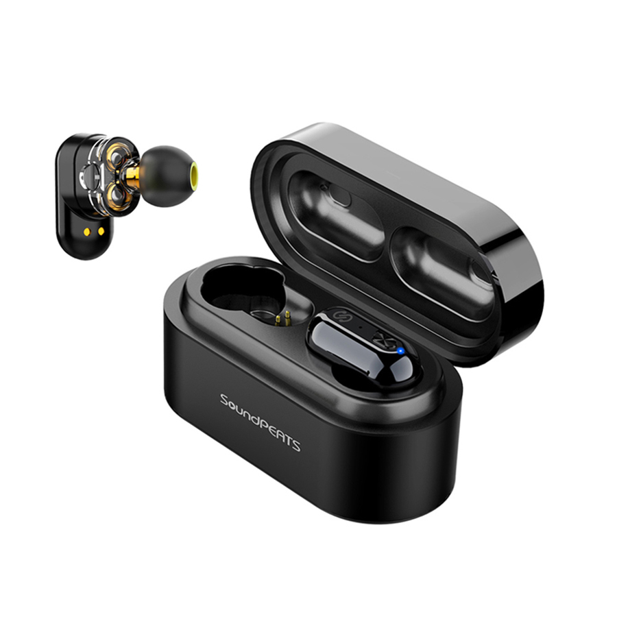SoundPEATS Verdadeiro Fones de Ouvido Sem Fio Bluetooth 5.0 fone de ouvido Estéreo Baixo IPX6 TWS Fones De Ouvido Fones de Ouvido Bluetooth Fones de Ouvido À Prova D' Água