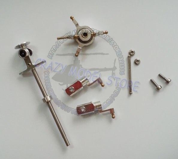 Super CP Mini CP Genius CP Metal Rotor Head Upgrade Full Set Silver