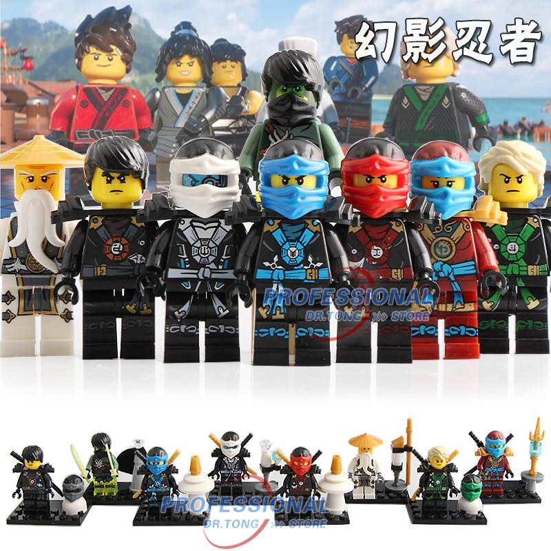 Orderly 8pcs/lot Ninja Figures Cole Zane Samurai X Nya Jay Kai The Wei Snake Vermin Lloyd Master Wu Lady Building Blocks Toys Bq8808 Punctual Timing Blocks Toys & Hobbies