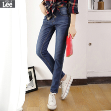 Women Jeans Real Cotton Light Fly Mid Bleached Washed Vintage 2016 Autumn New Ms. Jeans Female Pants Wild Thin Casual Trousers