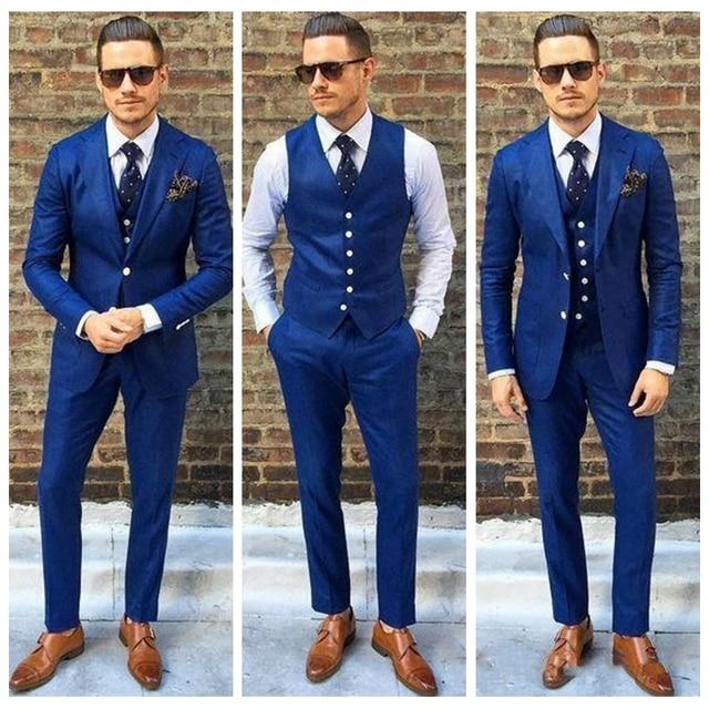 aa067b8ec188f 2019 nuevo diseñador para hombre traje de tres piezas de dos botones de boda  esmoquin Slim