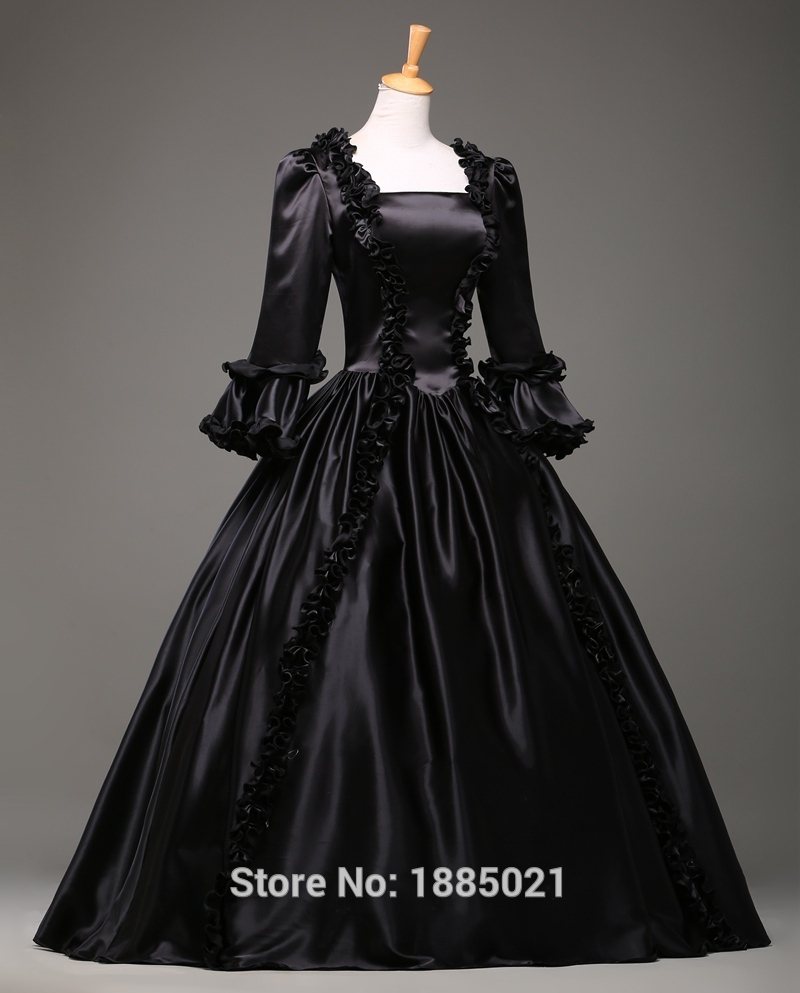 Black Court Dress 18th Century Rococo Cosplay Costumes Retro Fashion Clothing Celebrity Prom Dresses On Aliexpress Alibaba Group