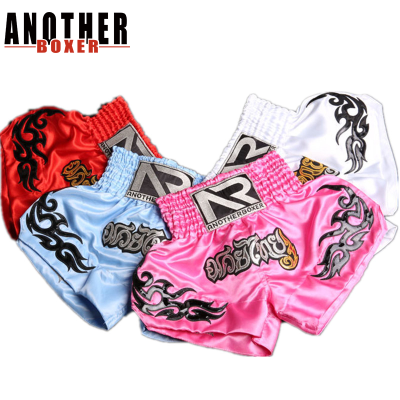 2~16 years old Children Muay thai shorts kick boxing shorts fight trunks mma combat sport pants Gym Tranning for kids gift image