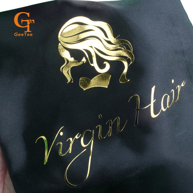 פאה אחסון תיק, סאטן תיק, שיער לא מעובד פאה סאטן תיק 28*40 cm