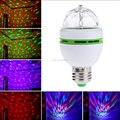 Mini led E27 3W Colorful Auto Rotating RGB LED Bulb Magic Ball Lamp Projector Christmas Lights for Party Disco DJ Show Christmas