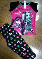 2017 NEWS BABY GIRL Monster wizard high school long sleeves pajamas suit home service 2 sets of 12 optional