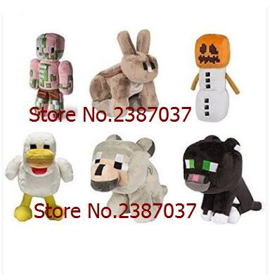 Dolls & Stuffed Toys 1pcs Minecraft Toys Soft Stuffed Doll Cartoon Animal Plush Toys Brinquedos Children Kids Gift Free Shipping Ideal Gift For All Occasions Movies & Tv