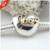 Diy adapta para pandora pulsera del amor del corazón 14 k clip de oro Charms 100% Granos de La Joyería de Plata de ley 925 Para Las Mujeres Del Envío gratis