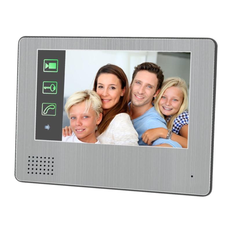 Video Intercom System 7 inch Touch Screen 8GB Record Video Door Phone DoorBell IR Night Vision Camera video doorphone