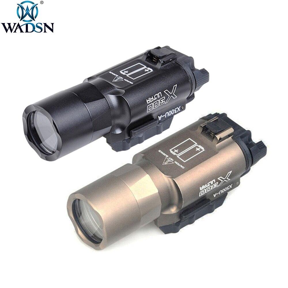 WADSN Surefir X300 Ultra Tactical Weapon Flashlight Pistol lanterna X300U Hunting Fashlight with Picatinny Rail WEX359