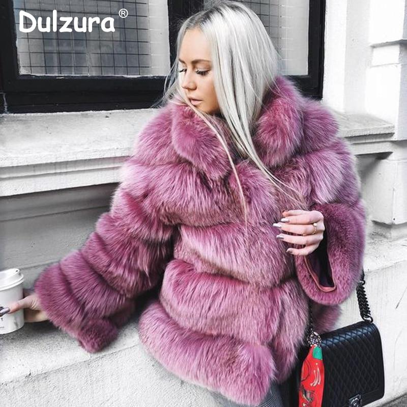 Frauen Winter 2018 Luxus Faux Pelz Jacken Mäntel Shaggy Verdicken Warme Oberbekleidung Mantel Ins Mode High Street Gefälschte Fuchs Pelz mantel-in Kunstpelz aus Damenbekleidung bei  Gruppe 1