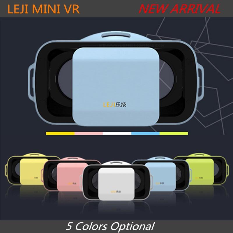 """<font><b>LEJI</b></font> <font><b>VR</b></font> <font><b>MINI</b></font> <font><b>Virtual</b></font> <font><b>Reality</b></font> <font><b>Glasses</b></font> Box 3D Video Movie <font><b>VR</b></font> Headset Goggles Google Cardboard 3.0 for 4.5/5.0-5.5"""" Moblie Phone"""