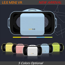 LEJI VR MINI Virtual Reality Glasses Box 3D Video Movie VR Headset Goggles Google Cardboard 3.0 for 4.5/5.0-5.5″ Moblie Phone
