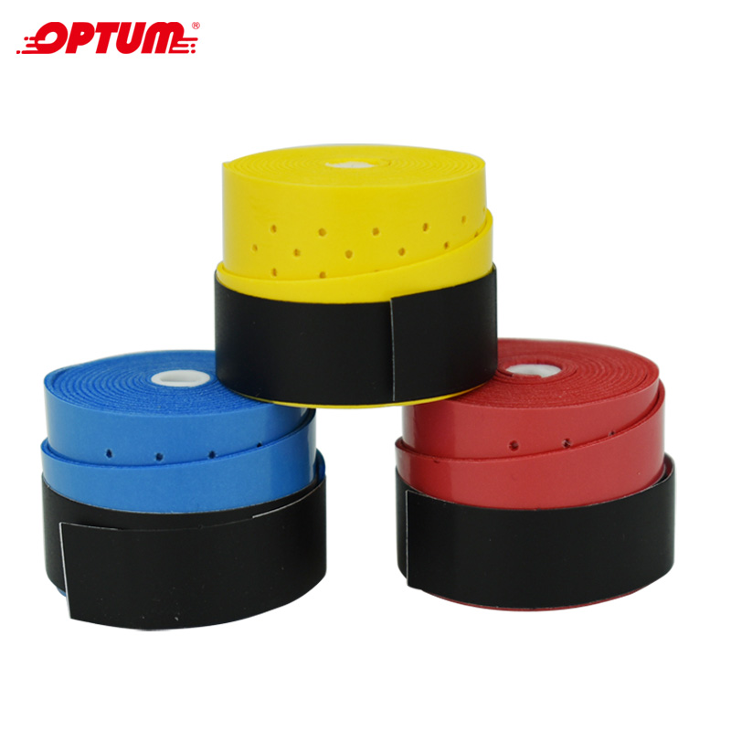 OPTUM 3pcs Tennis Racket Coated Style Overgrips Anti-skid Sweat Absorbed Tapes Badminton Tennis Overgrips Fishing Rod Sweatbands