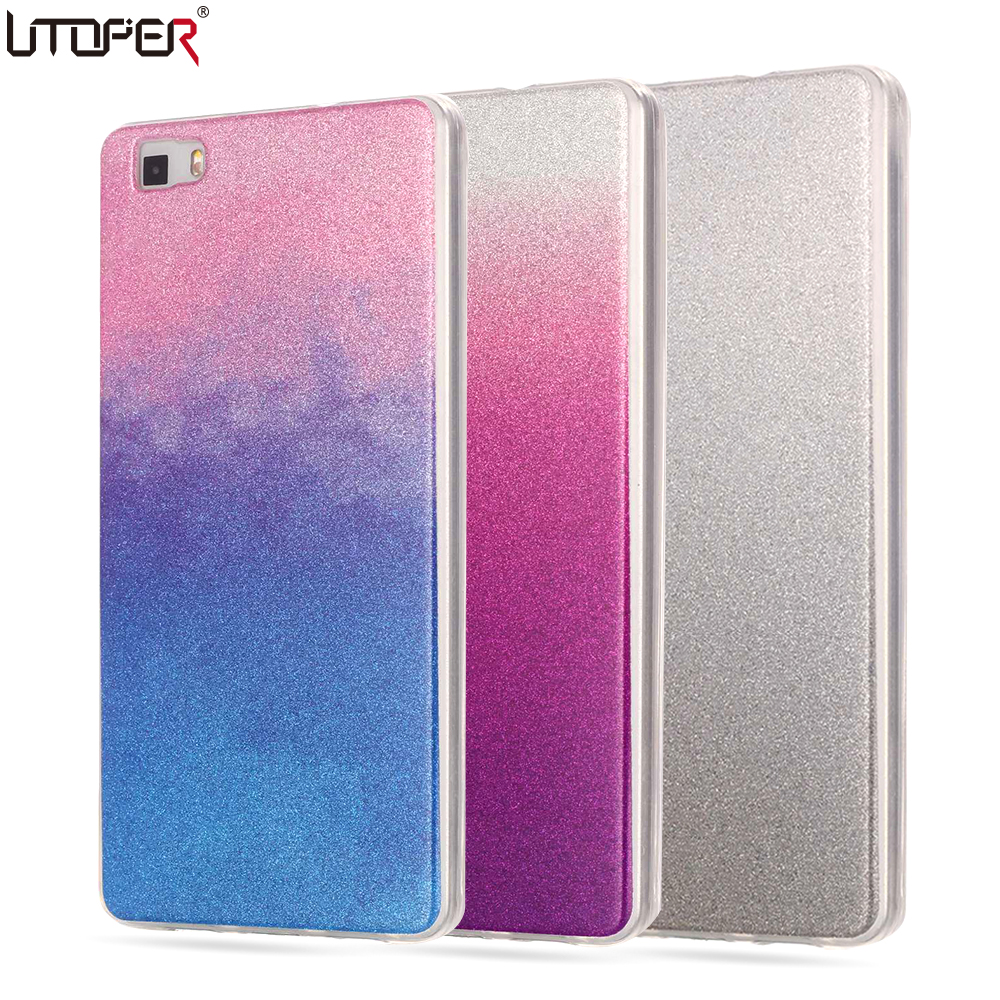 for huawei p8 lite case silicon glitter cover for huawei ascend p8 lite case p8 mini luxury. Black Bedroom Furniture Sets. Home Design Ideas