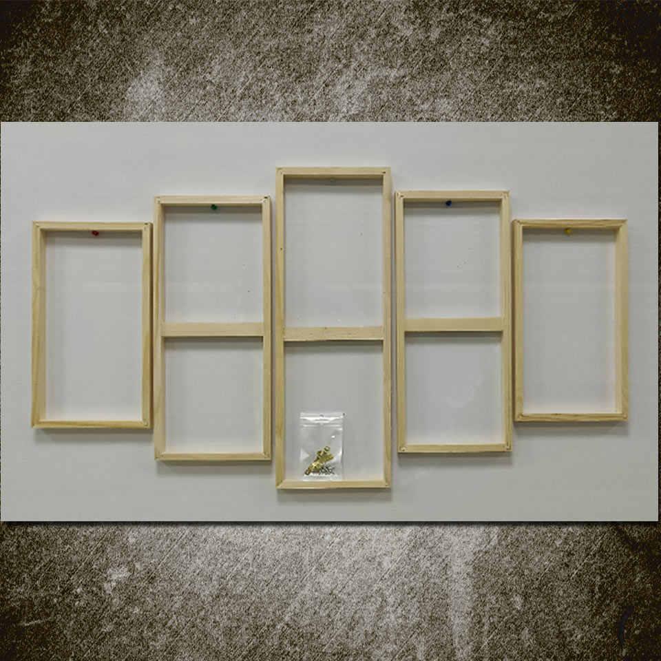 Art Zeilen Houten Frame Voor 5 Stuk Canvas (Een Model) SK-055 Houten Frame Voor Canvas Schilderij