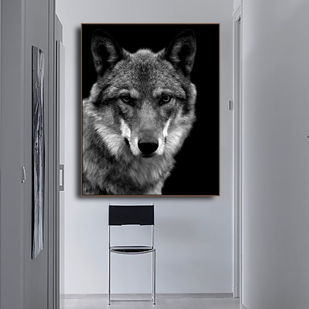Wolf Photography Animals Print on Canvas Home Decoration Wall Art Oil Painting Pictures Postesrs for Living Room Bedroom