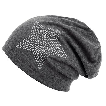 66db1bd4e49 Unisex Men Women Classic Star Rhinestone Slouch Beanie Cap Cotton Hat