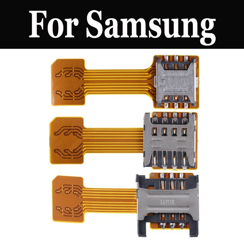 Micro <font><b>SIM</b></font> <font><b>Card</b></font> Hybrid Double Dual Micro SD <font><b>Adapter</b></font> For <font><b>Samsung</b></font> Galaxy Note 7 On5 On7 S7 S7 Active S7 EDGE S8 Active Xcover 4 image