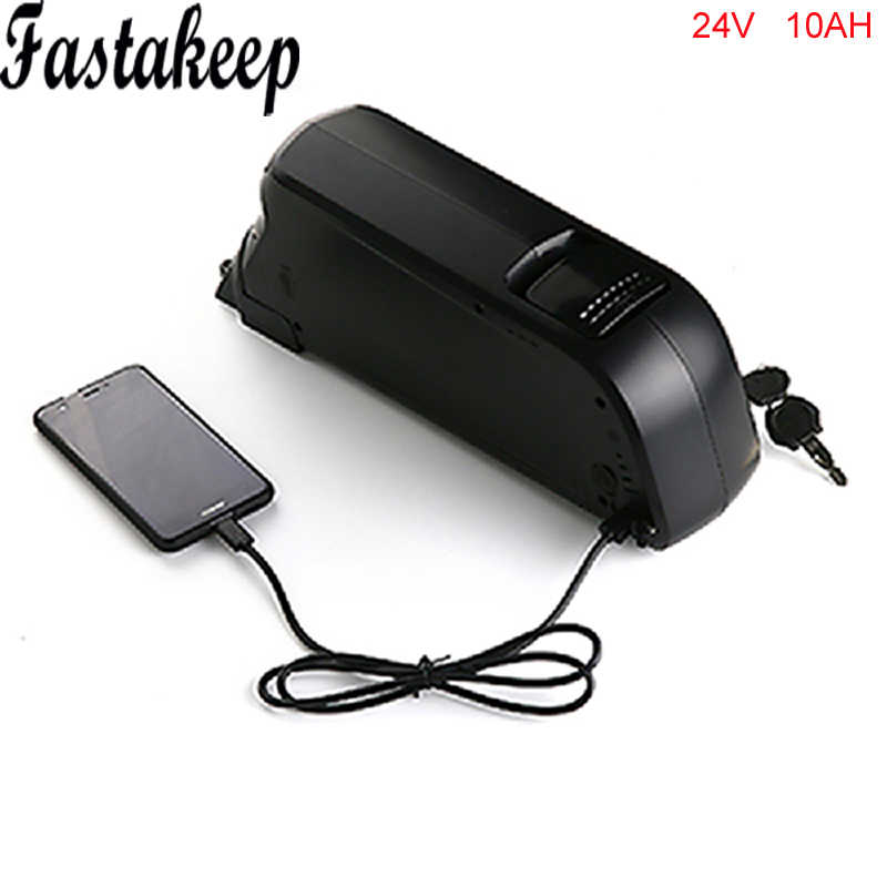 Dolphin 24V 10Ah Lithium Battery 24V 250W Rechargeable Battery for Ebike with Charger BMS USB Port