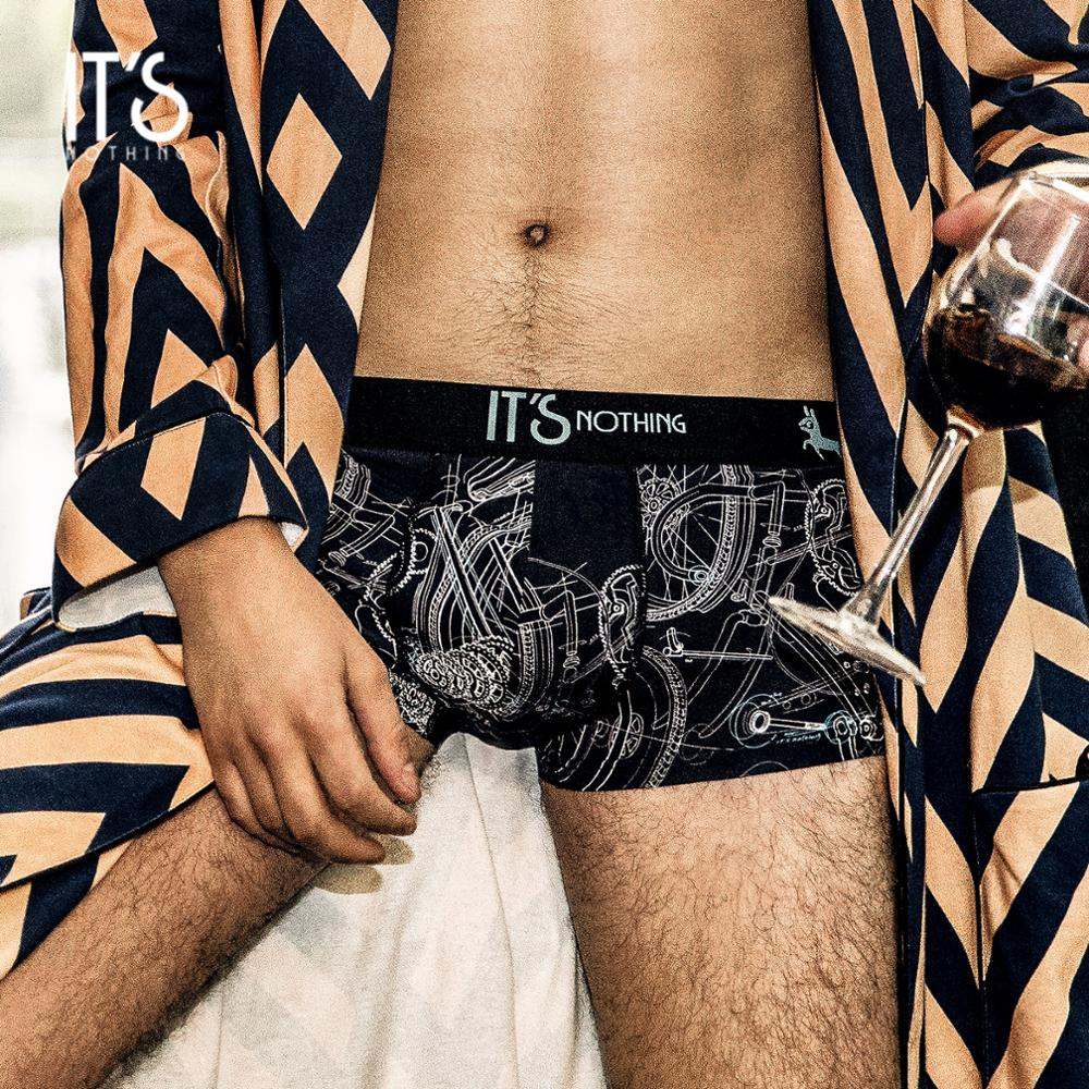 IT'S NOTHING Brand FIXED GEAR NEW COOL Classic Mens Underwear Boxer Sexy Underwear Men Boxers Shorts Luxury Unique Original Gay