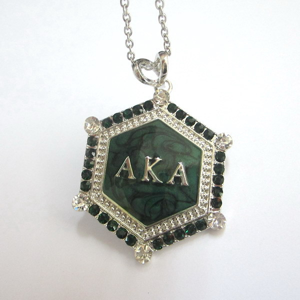 Free shipping greece sorority alpha k alpha green crystal green free shipping greece sorority alpha k alpha green crystal green enamel greek aka pendant necklaces in pendant necklaces from jewelry accessories on aloadofball Gallery