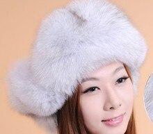 毛皮の帽子冬のリアルウサギの毛ビーニー毛皮ヒョウ調整可能な肥厚新しいファッション暖かい衣装cp028
