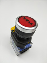 22 mm A good YJ139 LA38-11BN Automatic reset button switch 1 turn on closed Huanglanbaihei