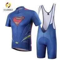 Bisiklet Jersey seti 2017 saiBike marka Superman kısa kollu bisiklet gömlek Dağ Bisikleti bisiklet giyim Ropa Ciclismo Giyim