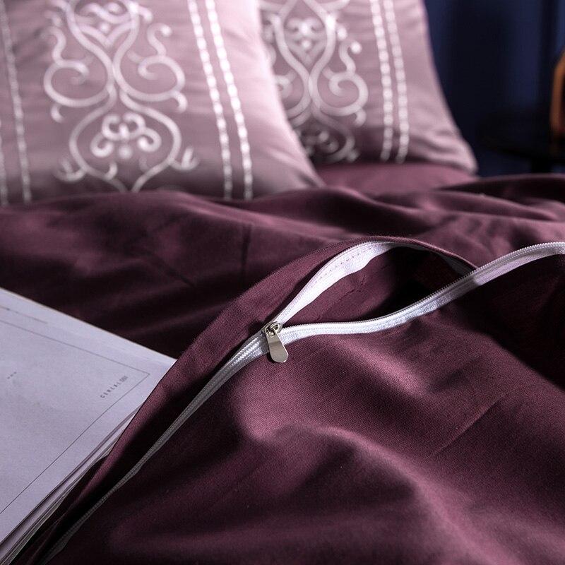 (11)  White silver cotton imitate silk luxurious Bedding Set queen king measurement mattress set Bedsheets linen Europe embroidery Quilt cowl set HTB1yzdCeJknBKNjSZKPq6x6OFXap