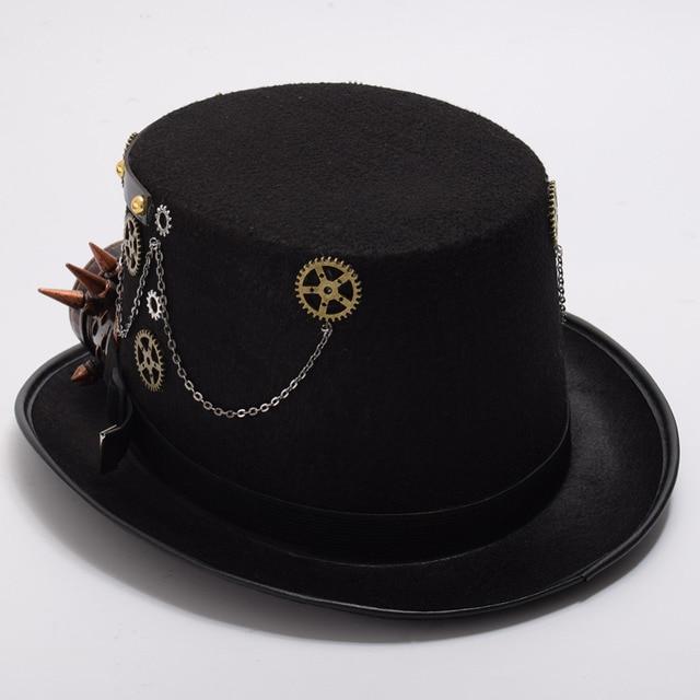 Шляпа в стиле стимпанк с очками вариант 6 2