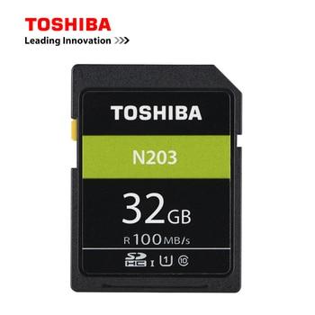TOSHIBA SD Card 32GB 64GB 128GB SDHC UHS-I U1 Flash Memory SD Card Class10 100MB/S Camera Card For Full HD Canon Sony