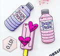 Caja del Teléfono Del Helado dulce 3D Rosa Botella Amor Parejas de Silicona Suave caso de goma para iphone 6 6 s 6 plus 5 5tilizar 7 7 más nuevo cubierta