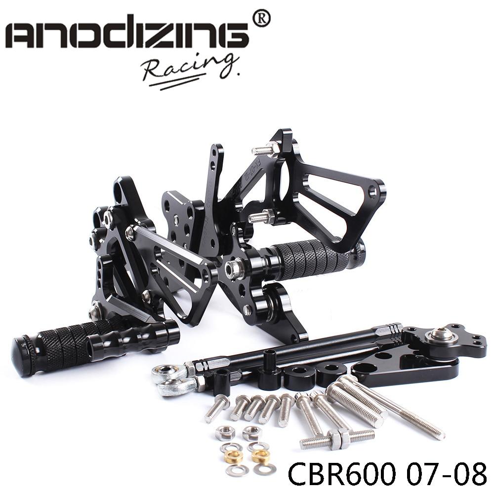 Full CNC Aluminum Motorcycle Adjustable Rearsets Rear Sets Foot Pegs For HONDA CBR600RR 2007-2008 rear wheel hub for mazda 3 bk 2003 2008 bbm2 26 15xa bbm2 26 15xb bp4k 26 15xa bp4k 26 15xb bp4k 26 15xc bp4k 26 15xd