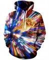 Женщины Мужчины Мода КОТ ВИХРЕВОЙ Galaxy 3D Толстовка Верхняя Одежда Harajuku Свободные С Капюшоном Толстовка