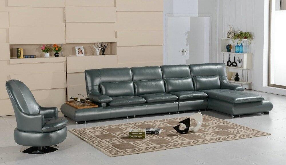 Pouf Chaise Chaise Style européen ensemble canapés Direct usine dans Unique dernier salon meubles en cuir crème canapé Design
